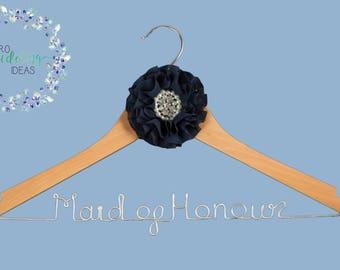 Maid of Honour Personalised Wedding Dress Coat Hanger * Parisian Style *