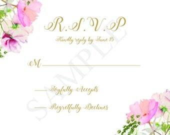 Quinceanera Invitation RSVP card