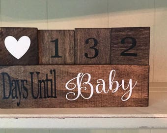 Countdown Block/ Baby Countdown/ Pregnancy Countdown/ Days Until Baby