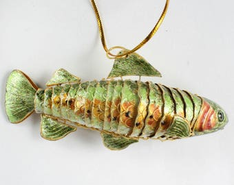 Trout Rainbow Trout Fish Ornament Enamel Articulated Body