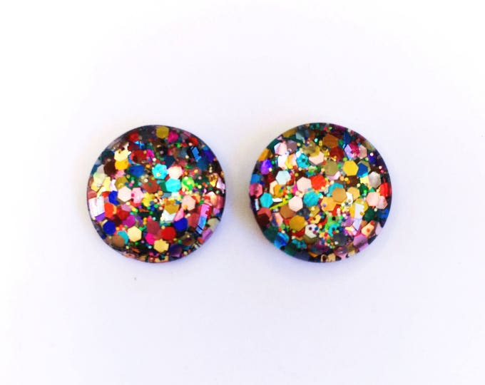 The 'Spectrum' Glass Earring Studs