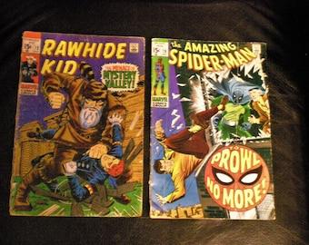 Marvel Comics 60s Amazing Spiderman  Rawhide Kid