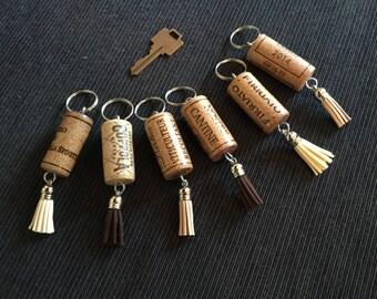 Keychain wine corks