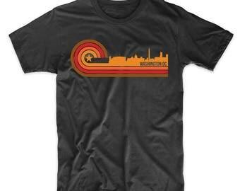 Retro Style Washington DC Skyline T-Shirt
