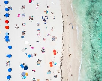 South Beach: 'The Blues  // Aerial Beach Photography // Limited Edition