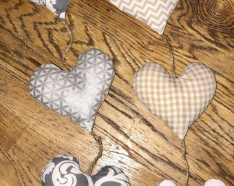 Hanging heart decoration (X3)