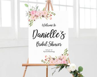 Bridal Shower sign, bridal shower welcome sign, shower sign, Welcome to bridal shower sign, red bridal shower, gold, red roses bridal shower