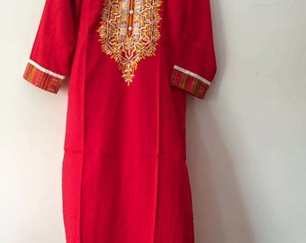 Indian Embroidary  Kurti Kurta Bollywood Tunic Top