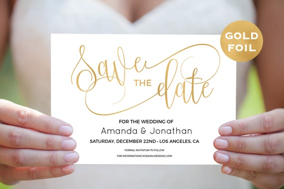 Gold Save the Date Template