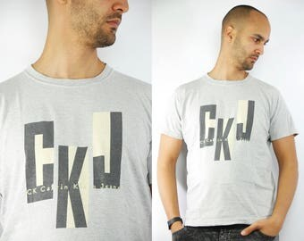 CALVIN KLEIN T-Shirt / Calvin Klein / Calvin Klein Grey / Retro T-Shirt / Calvin Klein T Shirt / Calvin Klein T-Shirt / Vintage CK T-Shirt
