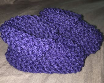 Soft Navy Simple Baby Booties