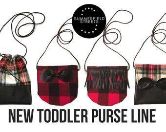 Toddler Rounded Crossbody - Toddler Purse - Baby Purse - Toddler Bag - Toddler Crossbody - Handmade Purse - Toddler Handbag