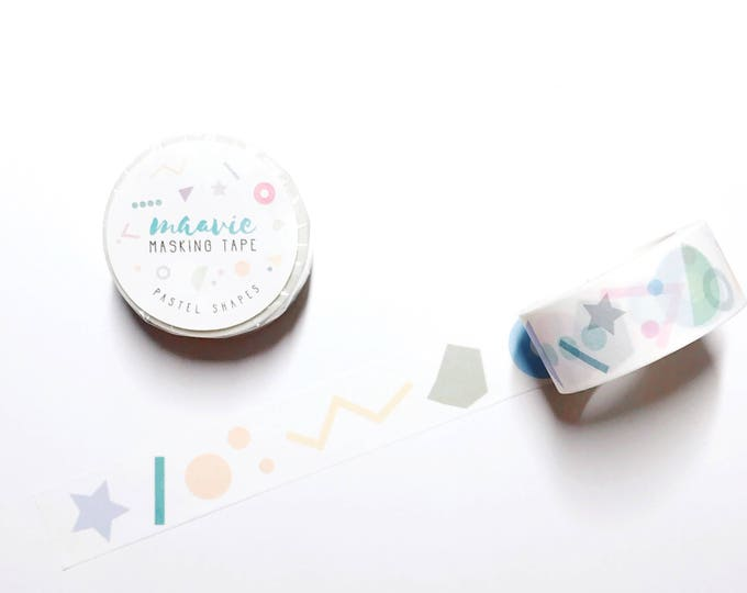 maavie masking tape - pastel shapes