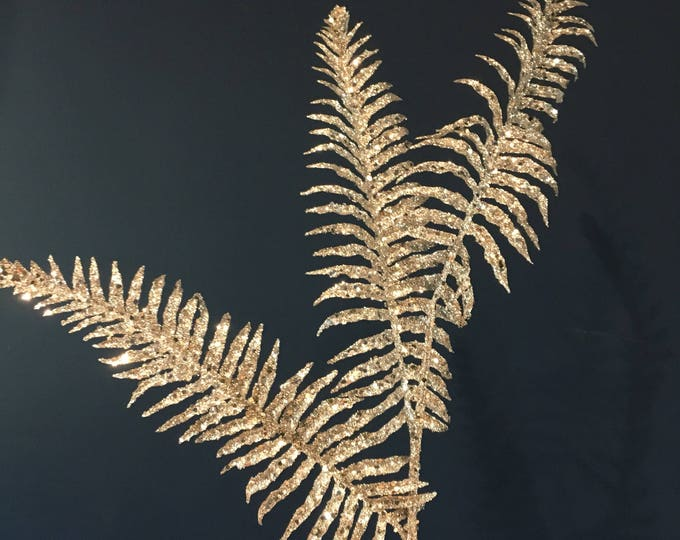 Glitter fern Stem. Three leaves per stem