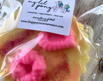 My Lil Pony Wax Tart Melt, Watermelon Lemonade & Fizzy Soda Wax Melts, Soy Blend Wax Tart, Candle Melt
