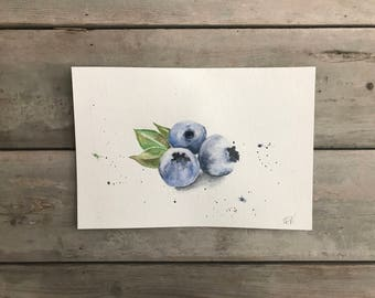 Blueberry Watercolour