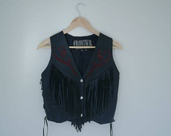 Authentic Western Leather Vest