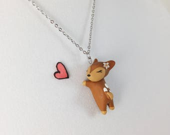 Gift for Her // Girlfriend Gift // Daughter Gift // Birthday Gift // Friend Gift // Deer Necklace