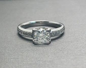 Sale! 0.35 carat diamond engagement ring in 18k White Gold, Diamond Engagement Ring, Anniversary Ring