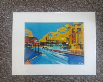 "Limited edition print - Park Square Sheffield  - A3, A4 or 7"" x 5"" Print of an Original Painting by Bryan John"