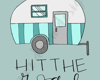 Hit the Road - Outdoors Traveling Printable