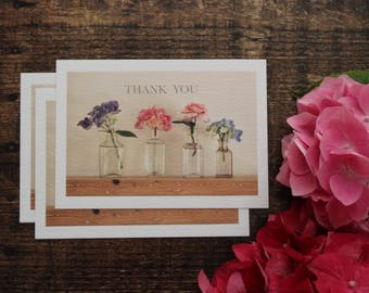 Photo cards pack//Thank you cards//Pack of 5 thank you postcards with envelopes//flower design // flower photography //hydrangea //flower po
