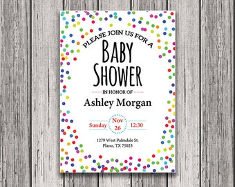 Printable Baby Shower Invitation - Baby Shower Template - Editable Baby Shower Invitation - Baby Shower Invitation - Printable Invitation