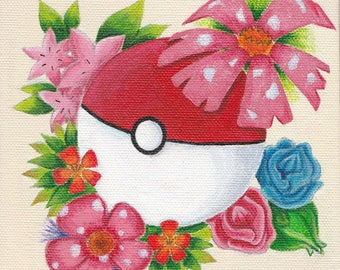 Pokeball canvas painting