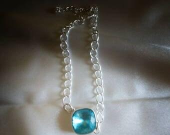 Swarovski Crystal Silver Link Bracelet