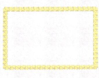 Monogram Frame Border Machine Embroidery Design Pattern File - Fits 4x4 Hoop - MULTIPLE FORMATS- Instant Download