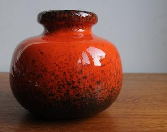 Wonderful Red Scheurich Vase West German Pottery Fat Lava Vase design 284