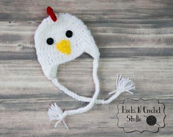 Newborn rooster hat, newborn chicken hat, baby chicken hat, rooster hat, newborn photo prop, newborn halloween, rooster, chicken hat,