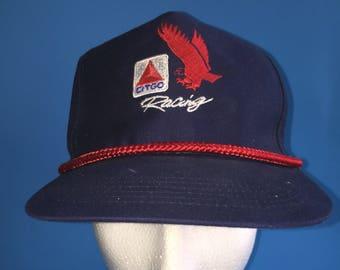 Vintage Citgo Racing Trucker Snapback Hat Adjustable 1990s Gas
