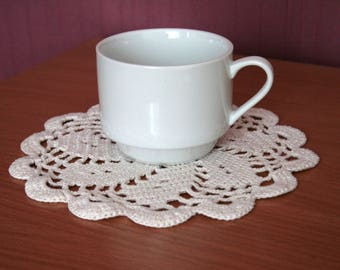 Small Doily White  7 Inch Doily Wedding Table Decor crochet doily cotton handmade doily crochet lace doily small crochet gift decorative