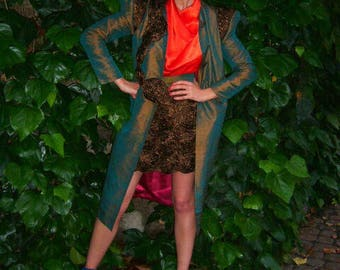 Coat haute couture silk