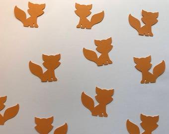 Orange Fox Confetti - Fox Decorations - Woodland Creatures Decor - Woodland Baby Shower - Woodland First Birthday - Woodland Party Decor