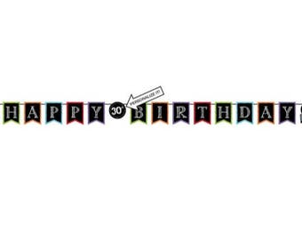 1 PC Happy Birthday Banner, Birthday Banner, Birthday Decorations, Party Supplies, Party Decorations, Banners, Party, Decorations, party