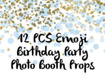 12 PCS Emoji Photo Booth Props, Party Props, Photo Booth Props, Party Supplies, Party Decor, Party, Photo props, Birthday, wedding