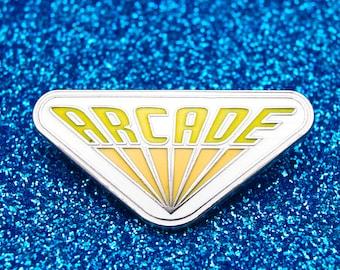 Stranger Things Arcade Enamel Pin Badge | Pin Badges | Hard Enamel Pin Badge  | TV Pin Lapel Badge