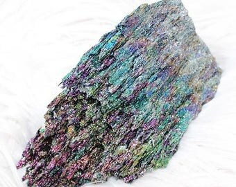 SALE Silicone Carbide Crystal Cluster, Carborundum Cluster Point, Rainbow Crystal 152mm 385g
