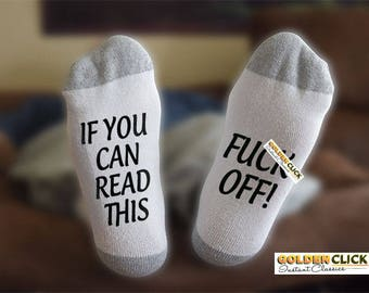 F Off Socks, If You Can Read This, Funny Socks, Gift For Him, Gift For Her