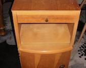Vintage Bedside Cabinet Chest Cupboard Table BIRDSEYE MAPLE Walnut Art Deco 1930s Pot Cupboard Nightstand