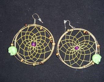 Earrings Native American skulls