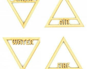 Fire, Earth, Air and Water Symbols