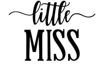 Little Miss Onesie, Tshirt, Baby Shower Gift, Baby Girl, Baby Onesie, Toddler Tshirt, Gift Ideas, Baby Gifts, Personalized Girl Gifts