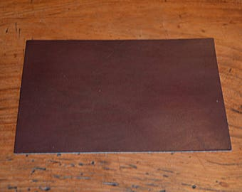 Coupon of leather tanned Brown cowhide (8934938)