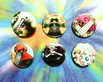 Choose Your Buttons - Set Of Six Steel Type Pokemon Buttons!