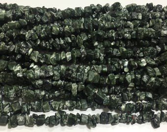Seraphinite chips beads ,34 inch strand,seraphinite beads ,seraphinite chips beads stone