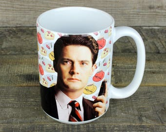 Twin Peaks Mug tv gifts for HER him mystery FBI agent Dale Cooper pie damn fine coffee