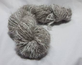 Handspun Angora Yarn: Lily- broken Chocolate